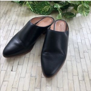 Madewell Black Leather Mules 6